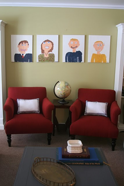 Family Portrait wall from Spearmintbaby.com