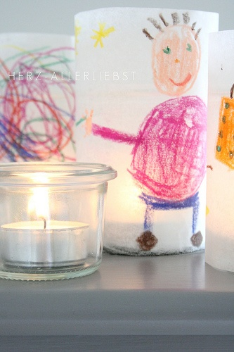 children's art candle covers by Herz-allerliebst.de