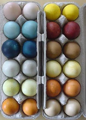 (Click photo for list of natural egg dyes)
